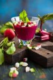 Beetroot gazpacho soup Stock Photo