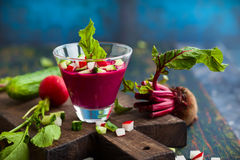 Beetroot gazpacho soup Stock Images