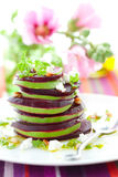 Beetroot,goat cheese and avocado Royalty Free Stock Photo