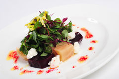 Beetroot with goats cheese Stock Images