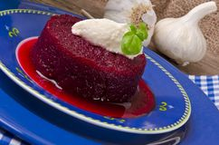 Beetroot with horseradish Stock Images