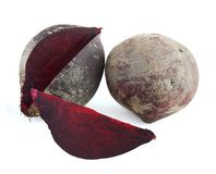 Beetroot. Isolated on white background Royalty Free Stock Photos