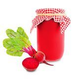 Beetroot jar Stock Images