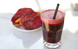 Beetroot juice. Glass of fresh beetroot juice Stock Images