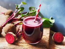 Free Beetroot Juice In Glass And Fresh Organics Beetroot. Royalty Free Stock Photos - 159839298