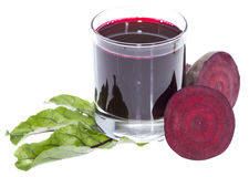 Beetroot Juice isolated on white Stock Photo