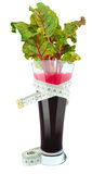 Beetroot juice with meter Royalty Free Stock Photos