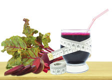 Beetroot juice and meter Royalty Free Stock Photos