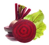 Beetroot with leaves Royalty Free Stock Photography