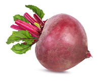 Beetroot with leaves isolated Royalty Free Stock Image