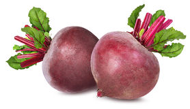 Beetroot with leaves isolated Royalty Free Stock Photography