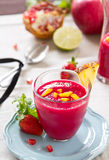 Beetroot and Mango smoothie Royalty Free Stock Photography