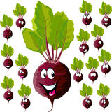 Beetroot with many expressions royalty free illustration
