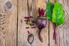 Beetroot on old wooden table Stock Image