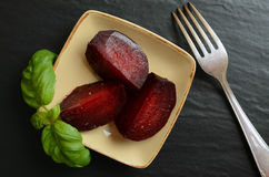 Beetroot with olive oil and sea salt Royalty Free Stock Image