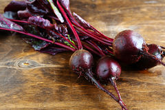 Beetroot on plywood Royalty Free Stock Photo