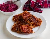Beetroot and potato rosti Royalty Free Stock Photo