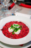 Beetroot risotto Fotografia Royalty Free