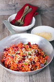 Beetroot risotto Royalty Free Stock Images