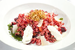 Beetroot Risotto Stock Photo
