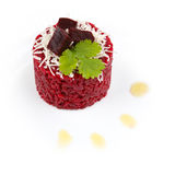 Beetroot risotto Royalty Free Stock Photos