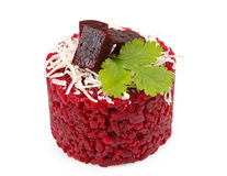 Beetroot risotto isolated Royalty Free Stock Photography