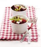 Beetroot and rocket salad Stock Photos