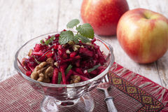 Beetroot salad with apple Royalty Free Stock Photos
