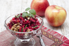 Beetroot salad with apple Royalty Free Stock Photography