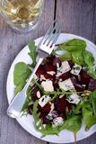 Beetroot salad with blue cheese. In plate Stock Images