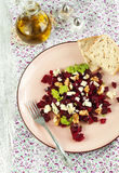 Beetroot Salad with blue cheese and walnuts Stock Images