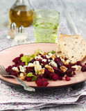 Beetroot Salad with blue cheese and walnuts Royalty Free Stock Photography