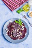 Beetroot salad with cheese Royalty Free Stock Images