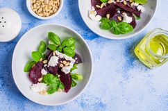 Beetroot salad with cheese Stock Photos