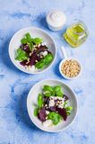 Beetroot salad with cheese Stock Photography