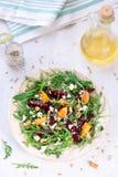 Beetroot salad with feta cheese and mandarins Royalty Free Stock Photos