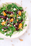 Beetroot salad with feta cheese and orange Stock Photo