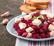 Beetroot salad with feta Stock Image