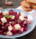 Beetroot salad with feta Royalty Free Stock Photography