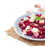 Beetroot salad with feta Stock Photos