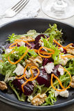 Beetroot Salad with Feta Walnuts and Carrot Stock Image