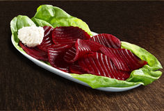 Beetroot salad with horseradish Stock Image
