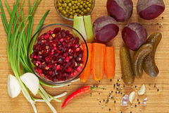 Beetroot salad, known as Vinaigrette. Stock Image