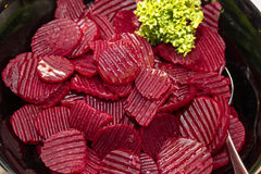 Beetroot salad. Ready to be served royalty free stock photography