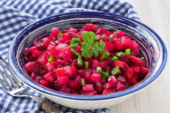 Beetroot salad vinaigrette Royalty Free Stock Photos