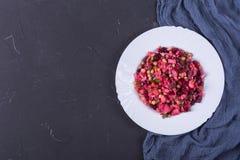 Beetroot salad vinaigrette stock photography