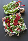Beetroot salad with walnut,feta cheese and beetroo Royalty Free Stock Images