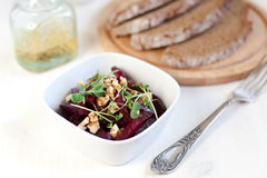 Beetroot salad with walnuts Royalty Free Stock Image
