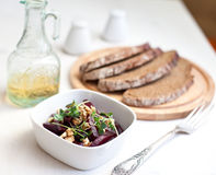 Beetroot salad with walnuts Stock Photo