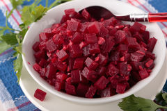 Beetroot salsa with ginger and garlic Royalty Free Stock Images